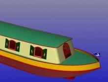 Photo bateau de poste 17 m  85 cv