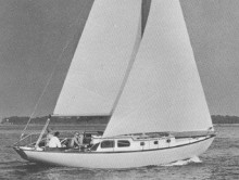 Photo seafarer swift ture   33 pied  de 1965  10.80 m  volvo  2 cyl 20 cv